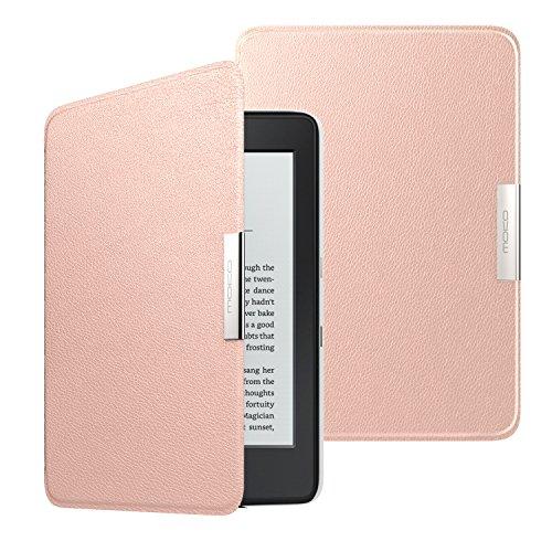 MoKo Hülle für Kindle Paperwhite, Ultra Slim PU Leder Tasche Schutzhülle mit Auto Sleep/Wake up Funktion für Amazon All-New Kindle Paperwhite (Alle 2012, 2013, 2015 und 2016 Version), Rose Golden