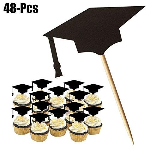8 Stücke Kuchen Topper Abschluss Kappe Kuchendeckel Dekoration Abschluss Hut Bachelor Zahnstocher Abschlussfeier Supplies ()