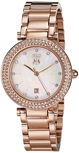JIVAGO WOMEN'S 33MM ROSE GOLD-TONE STEEL BRACELET & CASE QUARTZ WATCH JV5312