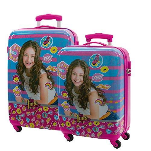 Disney Kofferset Ich bin Luna Koffer-Set, 97 Liter, Pink