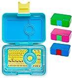 Yumbox Mini Snackbox (Cannes Blue) - Kinder Bento-box, auslaufsicher und 3 untereinander dichte Fächer, Brotdose mit Unterteilung für Krippe, Kita, Snack Unterwegs