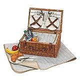 Picknickkorb 'Madison Park' für 4 Personen, ca. 46x30x21cm