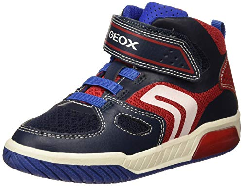 Geox J INEK Boy A, Zapatillas Altas para Niños, Blue (Navy/Red C0735), 26 EU