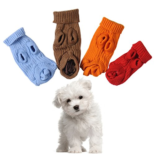 Awhao Pet Puppy Dog Warm Jumper Sweater Knitwear Coat Apparel Clothes