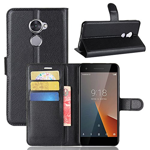 Vodafone Smart V8 Funda PU Cuero Leather Ranuras Tarjetas