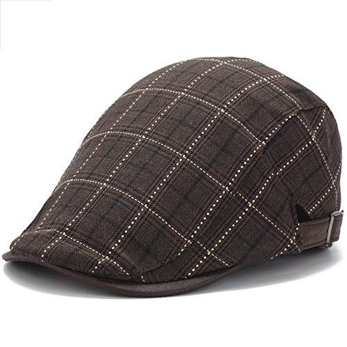 Lddendp cappello da uomo in cotone di alta qualità in misto classico piatto ivy collezione strillone cappello street hipster berretto da baseball cap casual outdoor plaid outing inghilterra cupola ber