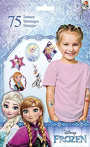 Disney Frozen (Eiskönigin) - 8 Bogen Haut Tattoos - insgesamt 75 ()
