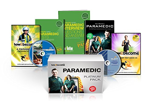 PARAMEDIC Recruitment PLATINUM Package Box Set: How to Become a Paramedic Book, Paramedic Interview Questions and Answers, Paramedic Tests, ... Fitness Test CD (How2become) (Career Kit)