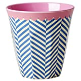Melamin-Becher Two Tone Sailor Stripe Print, groß