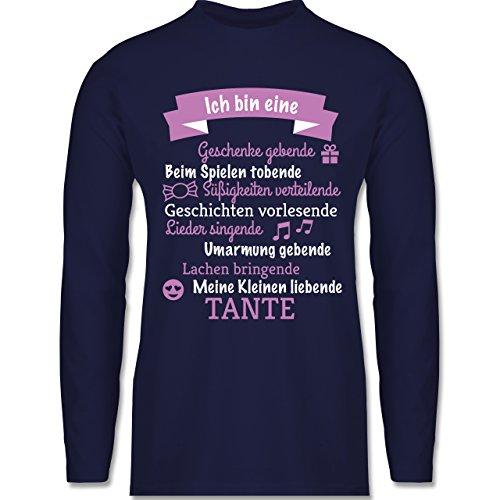 Weihnachten & Silvester - Ich bin eine ... Tante! - Longsleeve / langärmeliges T-Shirt für Herren Navy Blau