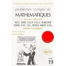 Mathématiques HEC 1997, tome 19 : Option scientifique