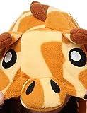 ABYED® Jumpsuit Tier Karton Fasching Halloween Kostüm Sleepsuit Cosplay Fleece-Overall Pyjama Schlafanzug Erwachsene Unisex Lounge,Erwachsene Größe L-für Höhe 167-175CM Giraffe -