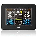 FanJu FJ3365 Funkwetterstation mit Weckfunktion und Temperatur / Feuchte / Barometer / Wecker / Uhr / Mondphase