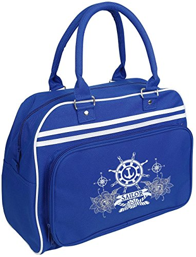 BagBase Sailor Borsetta blu royal/bianco