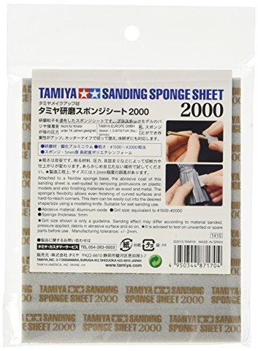 Tamiya 300087170 - Schleifschwamm 2000 Körnung, 114 X 140 Mm
