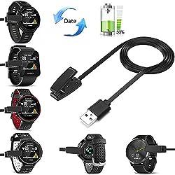 Fun Sponsor Cargador Garmin Forerunner 235, USB Cable Cargador Clip para Garmin Forerunner 230 235 630 735XT Focus S20 Cargador de Garmin