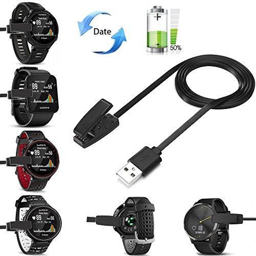 Garmin Gps-kabel (Garmin Forerunner Ladeklemme, Garmin Forerunner 35 235 Ladekabel- kompatibel Ladekabel für Forerunner 230, 235, 630 Ersatz USB Charge Ladegerät Lade Kabel Draht für Garmin GPS Watch by Fun Sponsor)
