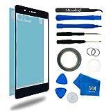 MMOBIEL Kit de Reemplazo de Pantalla Táctil para Huawei P8 (Negro) incluye pantalla de Vidrio / cinta adhesiva de 2 mm / Kit de Herramientas / Limpiador de microfibra / alambre Metálico