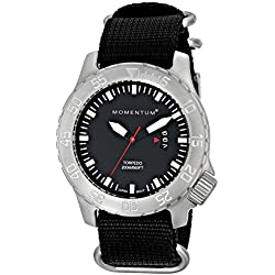 Momentum Mens Quartz Watch, Analogue Classic Display and Nylon Strap 1M-DV74B7B