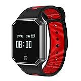 Hanbaili Tracker di fitness Monitoraggio della frequenza cardiaca / pressione sanguigna / sonno IP67...