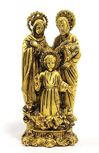 StonKraft latón Sagrada Familia estatua bebé Jesús la Virgen María y Saint Joseph católica cristiana religiosa figura decorativa figura (7.5')