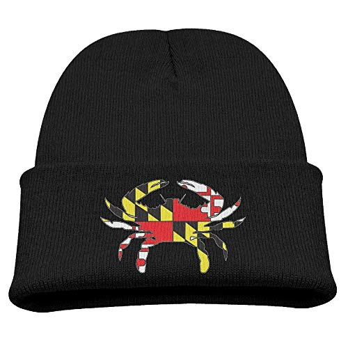 Banana King Maryland Flag Crab Baby Beanie Hat Toddler Winter Warm Knit Woolen Cap for ()