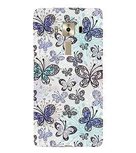 Fiobs creative artistic butterflies designer Designer Back Case Cover for Asus Zenfone 3 Laser ZC551KL (5.5 Inches)