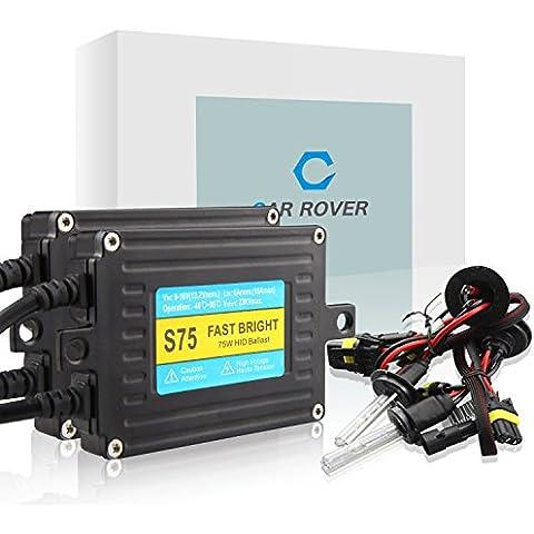 CAR ROVER® 75W H7 Kit de Xenon HID Con Fast Brillante Lastre Linterna del Coche Bulbos 8000K