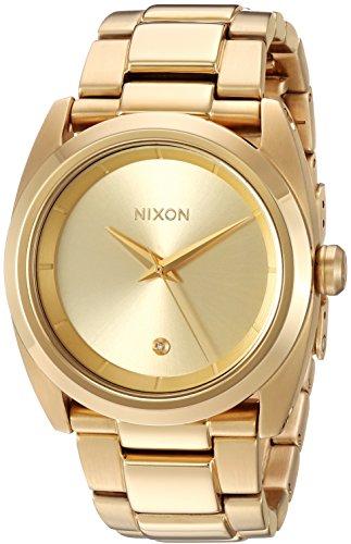 Nixon Femme 'Queenpin' à quartz en métal et acier inoxydable montre automatique, couleur: Gold-toned (modèle: A935502–00)