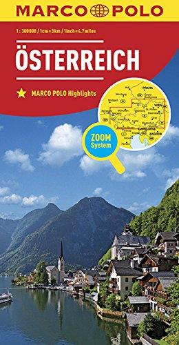Preisvergleich Produktbild MARCO POLO Länderkarte Österreich 1:300 000 (MARCO POLO Länderkarten)