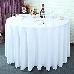 Mantel del color sólido grueso/mantel para mesas de hotel/ manteles del restaurante del hotel/ el mantel/ mantel de boda picnic/ Fondos de banquetes-K diámetro320cm(126inch)