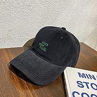 DRTWE Unisex para Gorra De Beisbol,Negro Carta Ajustable Gorra Verano Bordado Arco Sombreado Gorra De Béisbol Transpirable Clásico Personalidad Deportes Versátiles