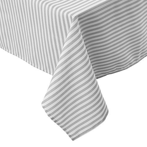Deconovo Tischdecke Wasserabweisend Tischdecke Deko Tischwäsche 130x220 cm Grau