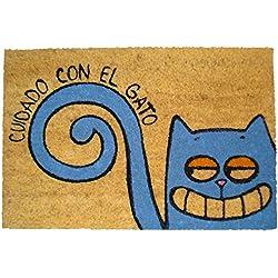 Koko Doormats - Felpudo diseño cuidado con El Gato Coco, 60 x 40 cm