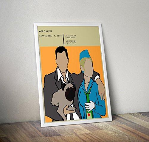 Archer TV-Show-Poster - Sterling Archer inspiriert Print - Alternative TV/Movie-Prints in verschiedenen Größen (Rahmen nicht im Lieferumfang enthalten) - Shirt Archer Show