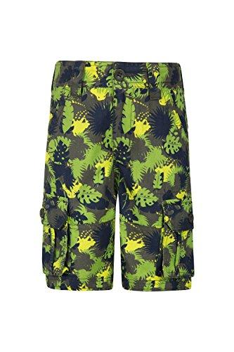 Mountain Warehouse Steve Backshall Croc Camo Shorts - Sommershorts, 100% Baumwolltwill, leichte Campinghose, pflegeleicht, atmungsaktive Kinderhose Grau 164 (13 Jahre)