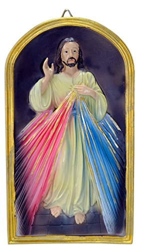 Kaltner Präsente Geschenkidee - Bild Wandbild Gnadenbild Relief Barmherziger Christus Jesus
