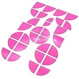 Emblem Ecken Aufkleber Neon von Finest-Folia (Neon Pink)