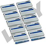 50 Stück Lamy Tintenpatronen T10 blau (10x5) Patronen für Füller