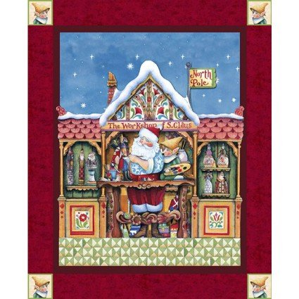 Babbo Natale elfo TV tessuto by Jim Shore, Quilting, dell' Avvento, Natale, vacanze, Babbo Natale, Babbo Natale. cp61500