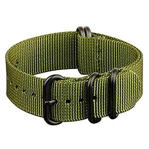 Infantry® Uhrenarmbänder Uhrband Uhr ZULU Strap Band Uhrenband Armband Armee 22mm