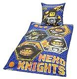 Bettwäsche Lego Nexo Knights Bezug 135x200cm Kissen 80x80cm 100%Baumwolle