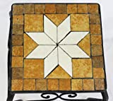 Stool Merano Mosaic 12015 Flower stand 38cm Stool square Side table