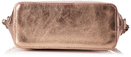 Chicca Borse Damen 8816 Schultertasche, 26x18x10 cm Rosa (Rosa)