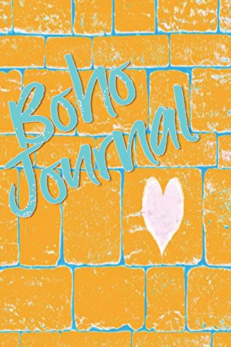Boho Journal: 140 Lined Pages Softcover Notes Diary, Creative Writing, Class Notes, Composition Notebook -  Yellow Wall Graffiti -