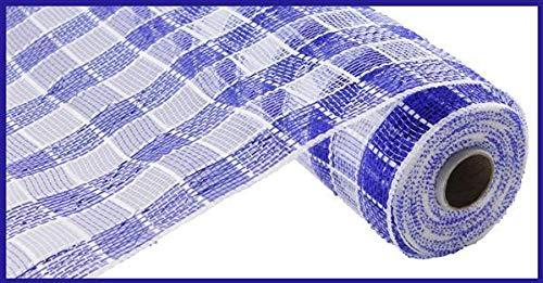 Plaid kariert Deco Poly Mesh Dekoband (5cm breit) 25,4cm X 10Meter 10