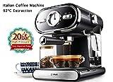 LHJCN Machine à café • 20 Bars • Mousse de Lait • 1000W • Design élégant...