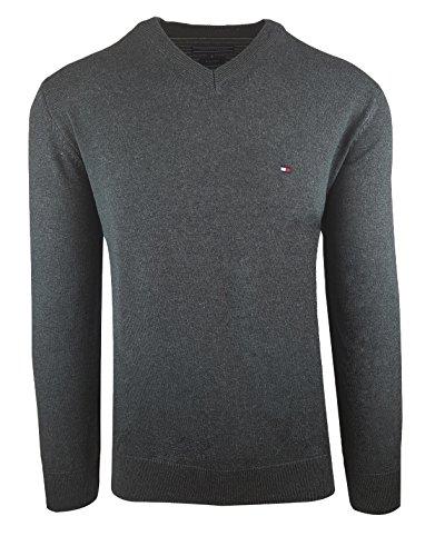 203662125bb5 Tommy Hilfiger Herren Pullover Small Logo dunkelgrau SALE Größe M, Farbe  Dunkelgrau