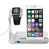 VTin Aluminum Alloy Charging Dock Stand Holder Cradle for Apple Watch, iPhone, iPad or other Smartphone