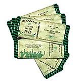 """'Cartes d'anniversaire d'anniversaire Invitations Cartes d'invitation """"Stripes–vert–Billet croirez avec de Démolition Coupon..."""